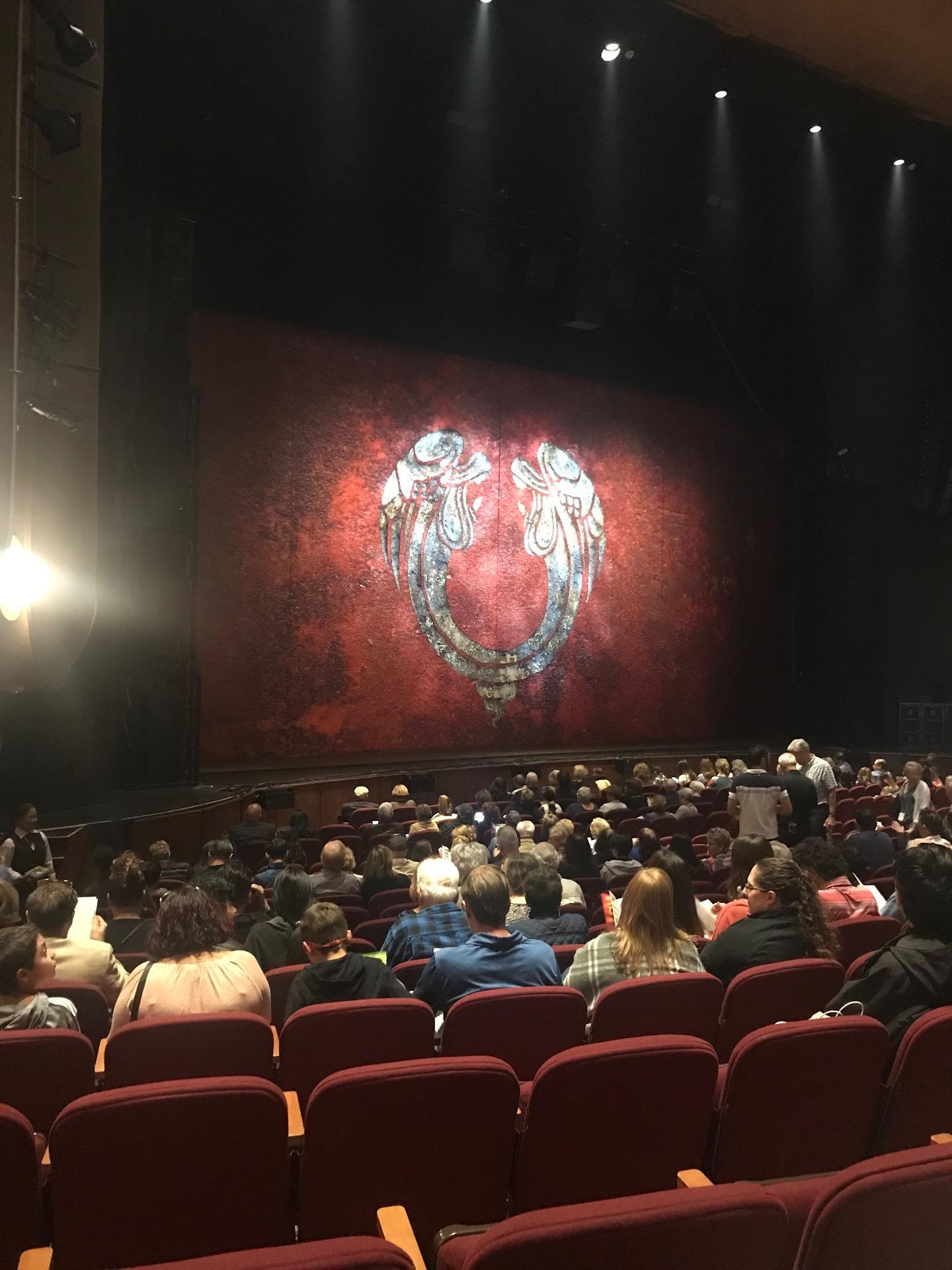 San Jose Center For The Performing Arts Section ORCL Row 13 Seat 48