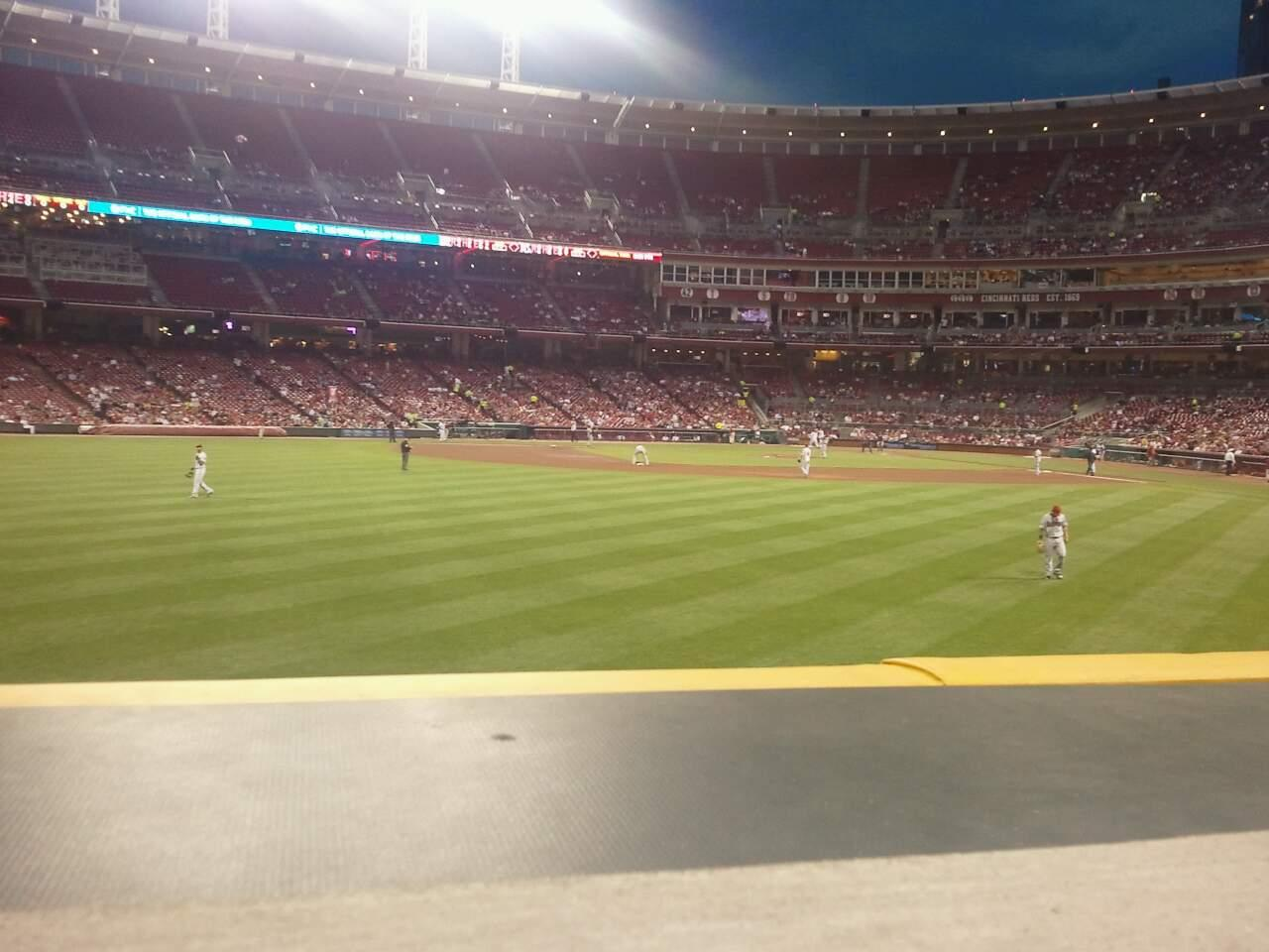Great American Ball Park Section 102 Row a Seat 7