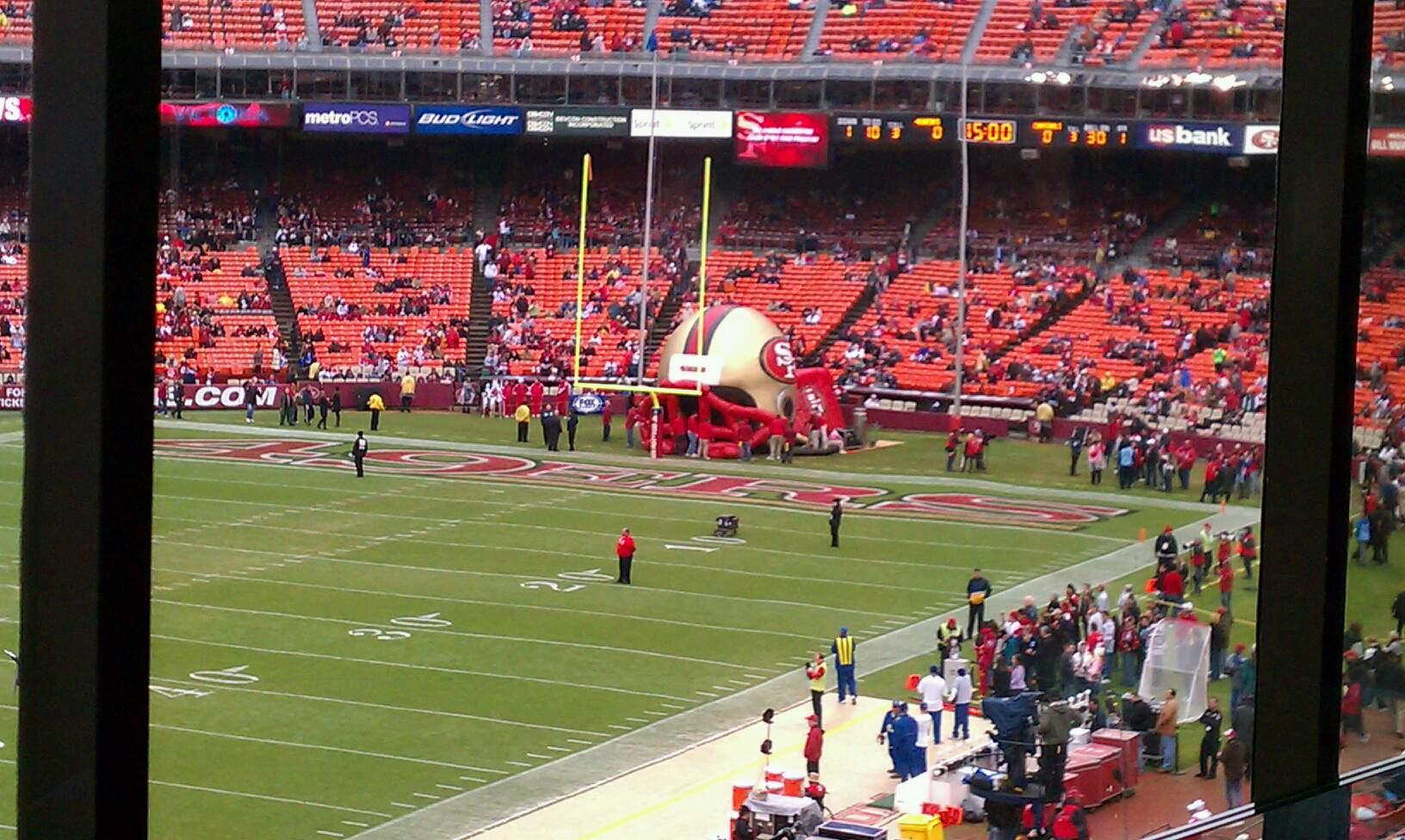 Candlestick Park Section 71 Row box Seat 6