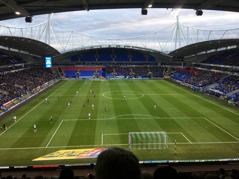 University of Bolton Stadium Section N Row LL Seat 59