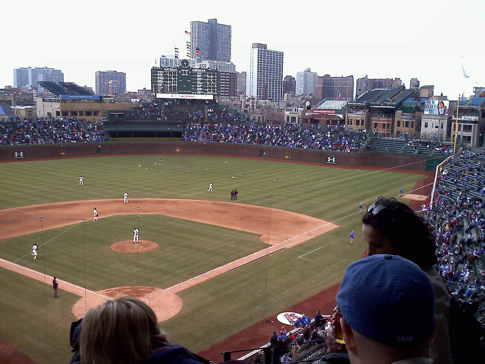 Wrigley Field Section 318R Row 5 Seat 3