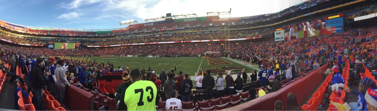 FedEx Field Section 117 Row 3 Seat 19