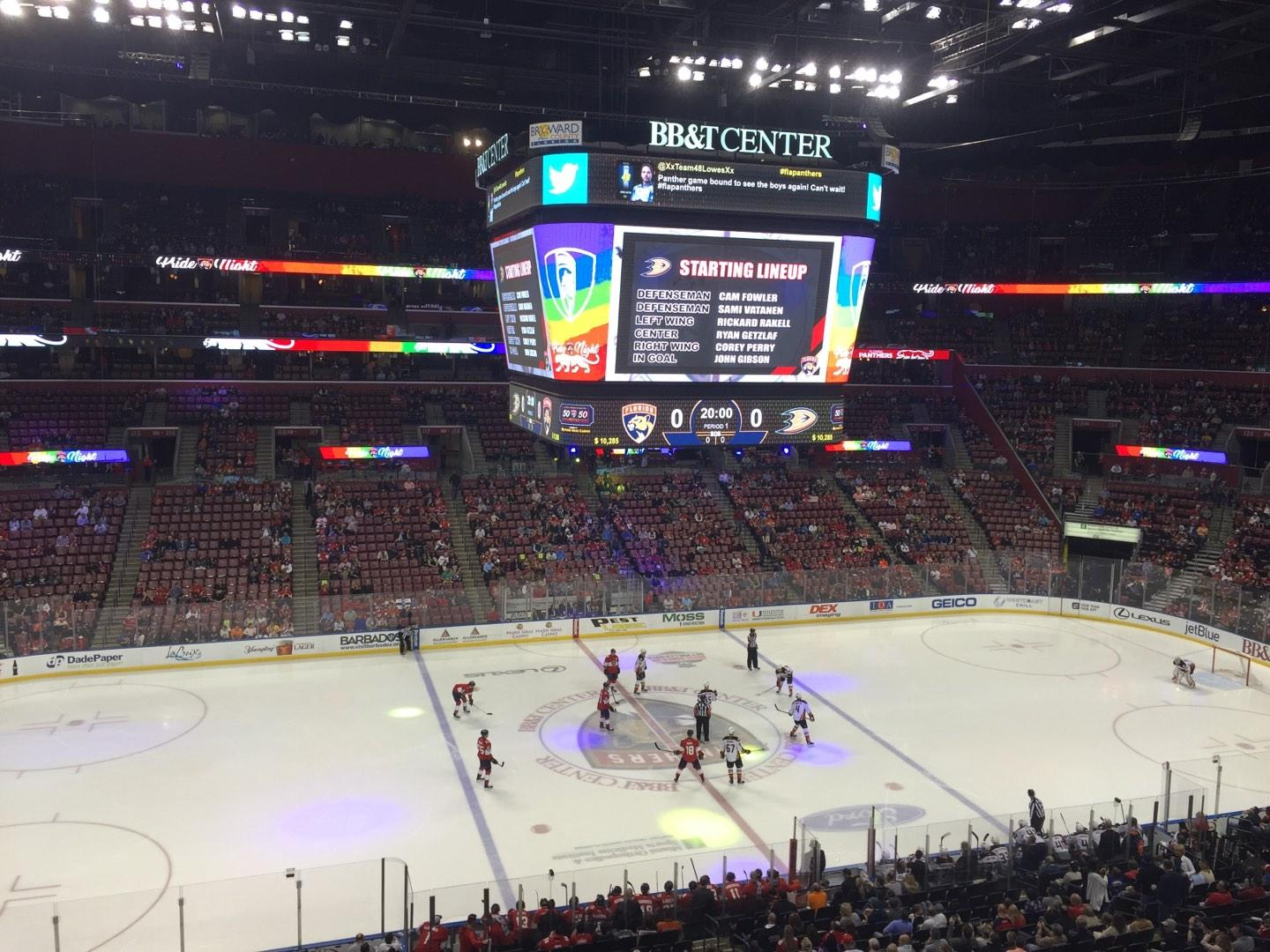 BB&T Center Section CL02 Row 1 Seat 13