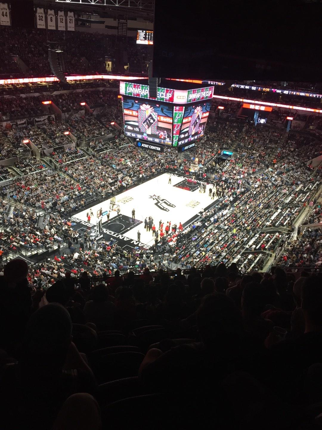 AT&T Center Section 213 Row 16 Seat 17