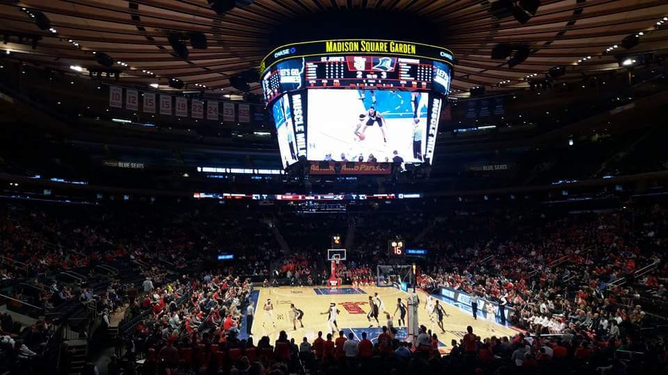 Madison Square Garden Section 101 Row 16 Seat 17