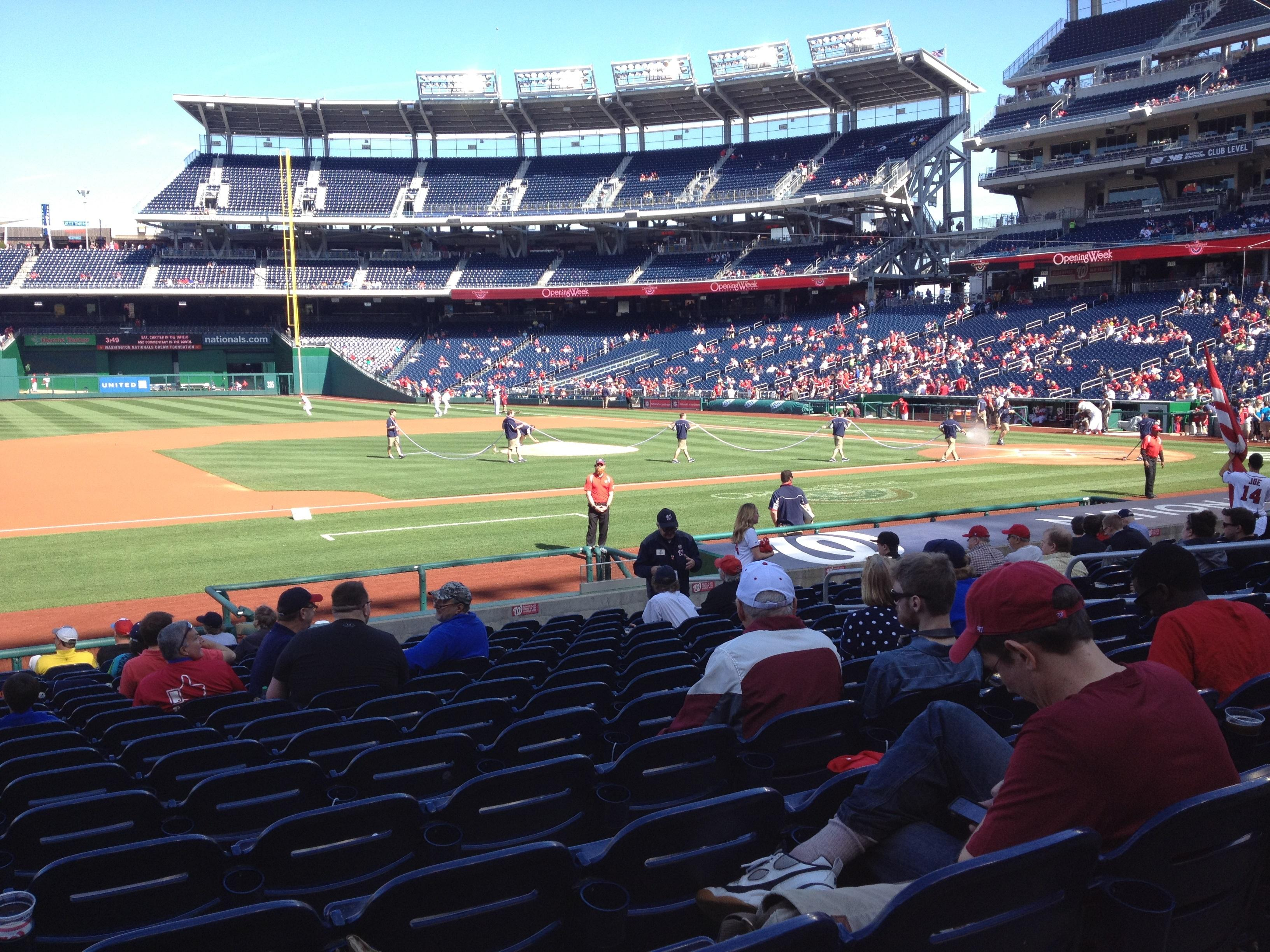 Nationals Park Section 115 Row T