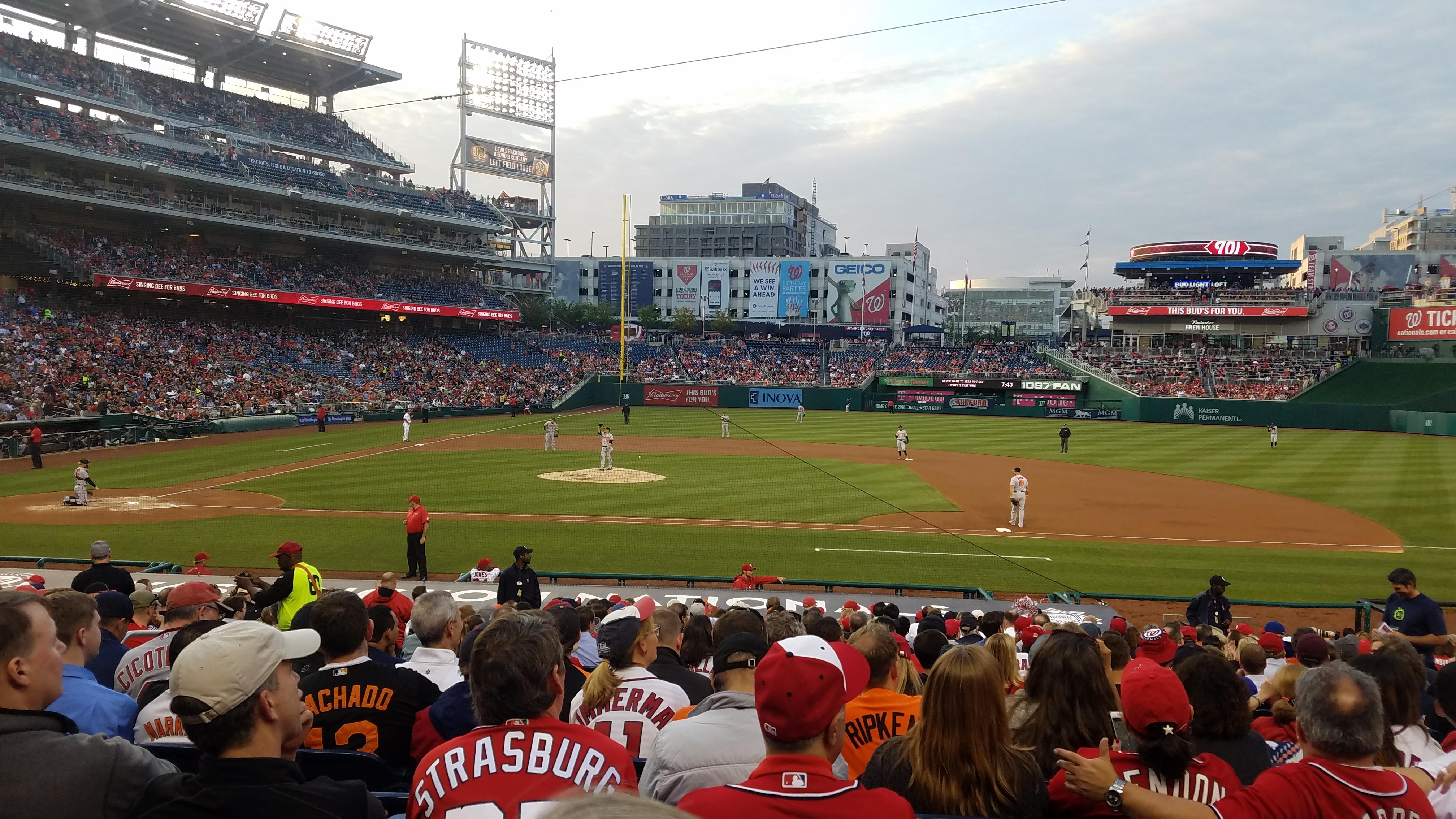 Nationals Park Section 129 Row Z Seat 11