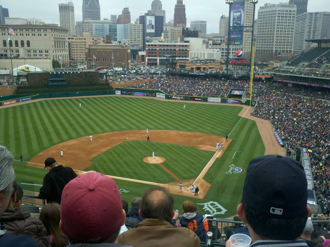 Comerica Park Section 330 Row 7 Seat 13