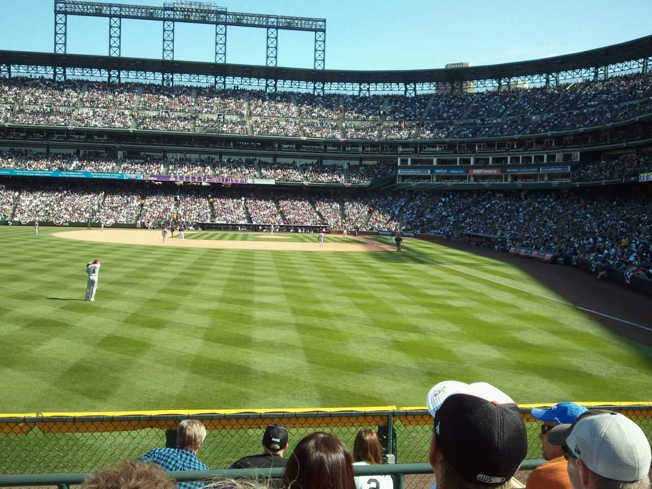 Coors Field Section 152 Row 5 Seat 8