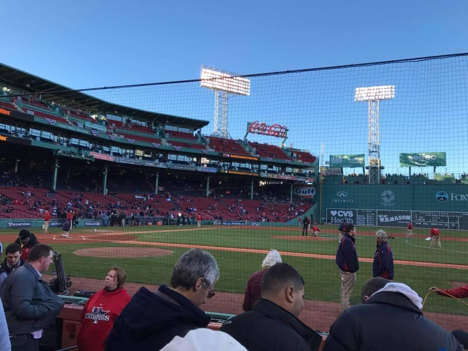 Fenway Park Section Field Box 29 Row C Seat 4