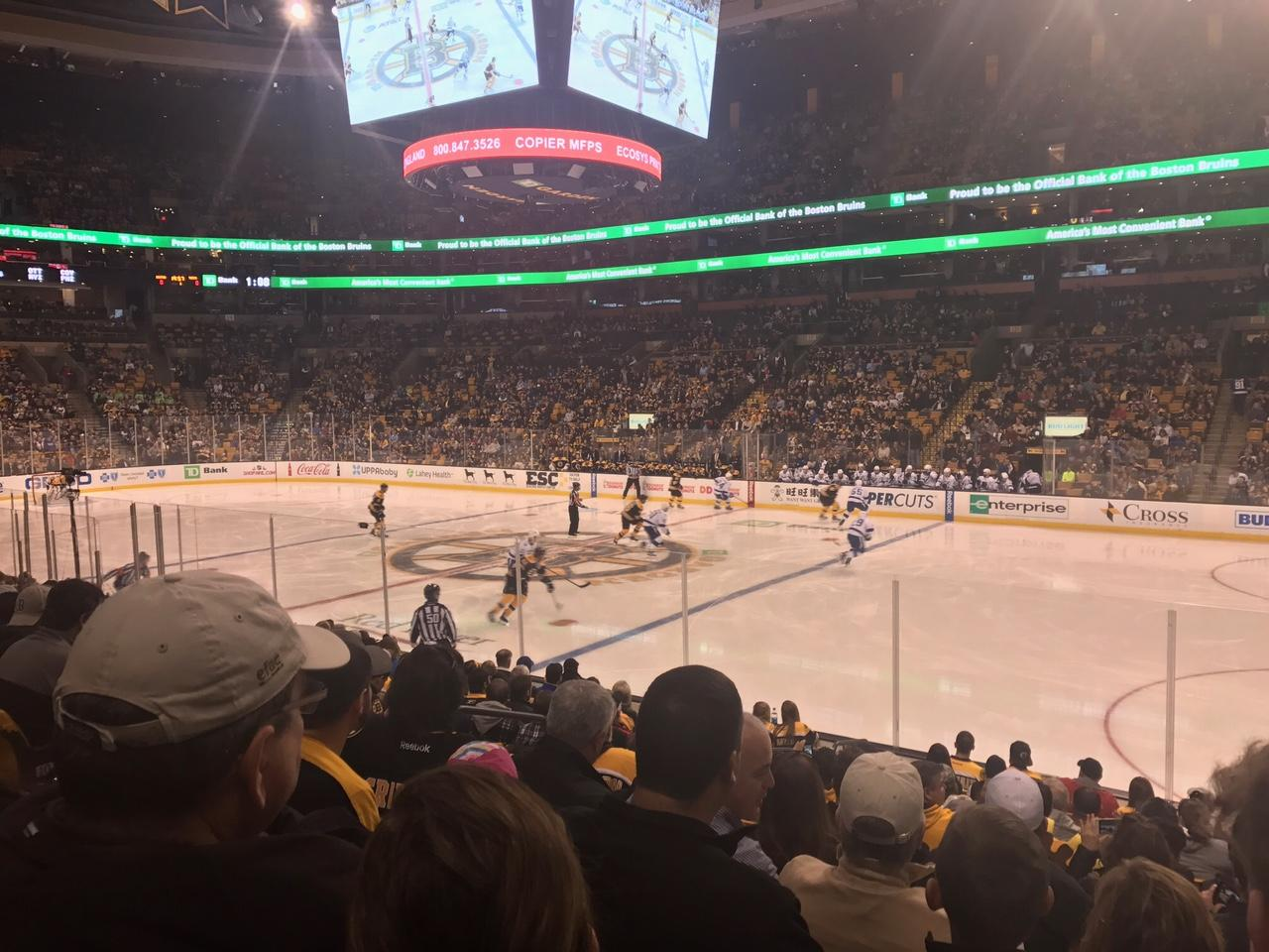 TD Garden Section Loge 10 Row 13 Seat 9