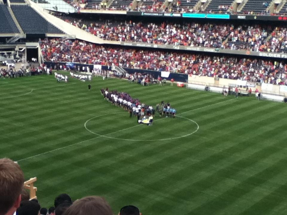 Soldier Field Section 332 Row 12 Seat 8 Messi And