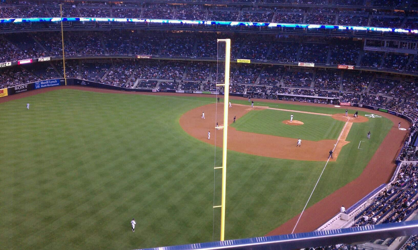 Yankee Stadium Section 432b Row 1 Seat 11