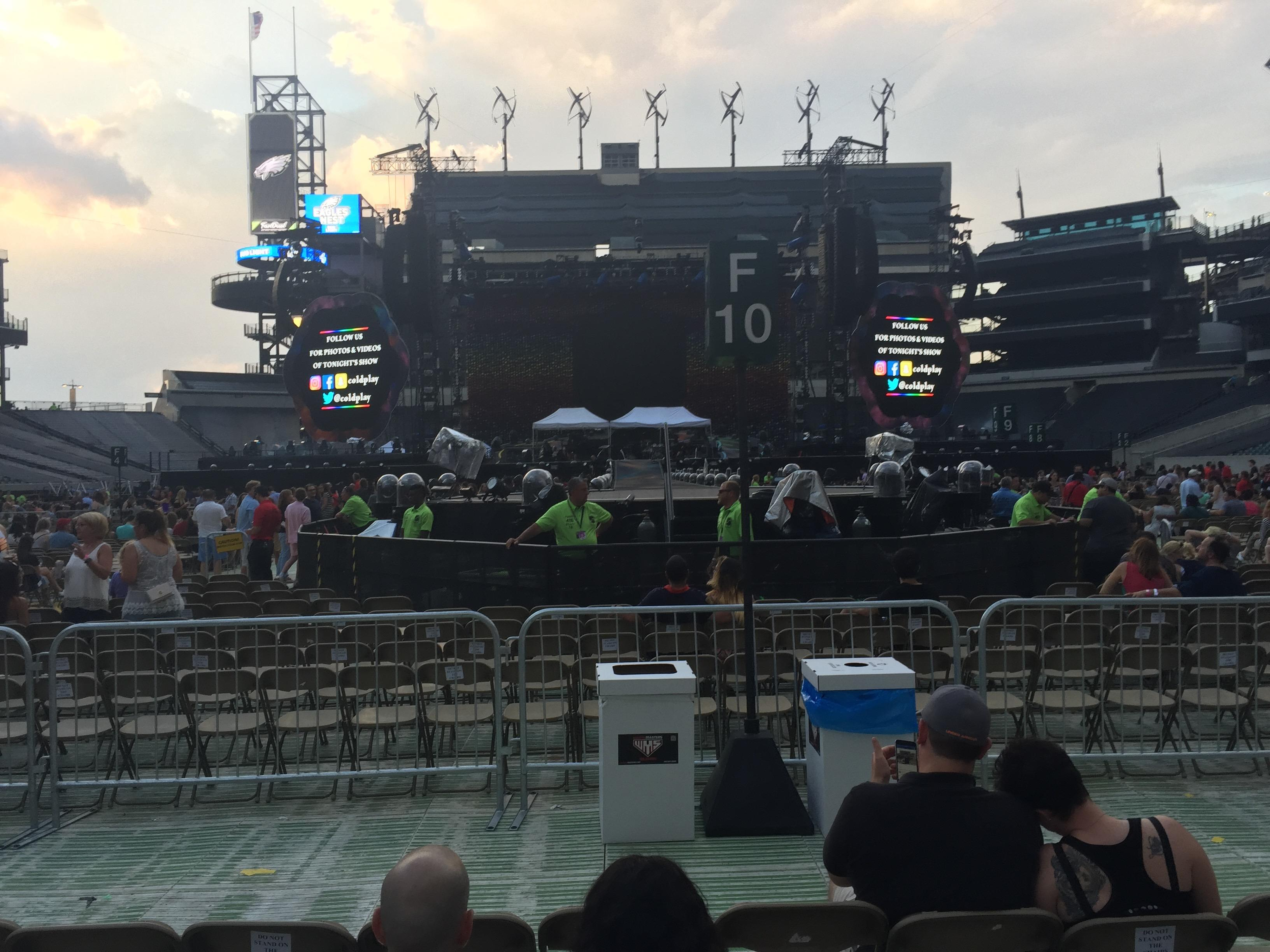 Lincoln Financial Field Section F15 Row 7 Seat 18