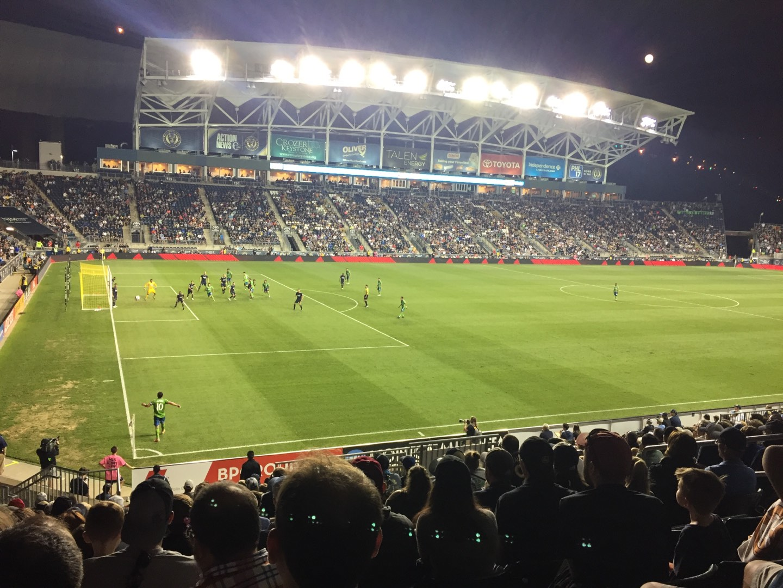 Talen Energy Stadium Section 112 Row V Seat 11