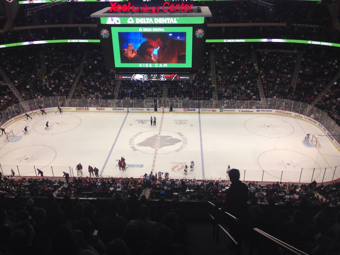 Xcel Energy Center Section 219 Row 10 Seat 1