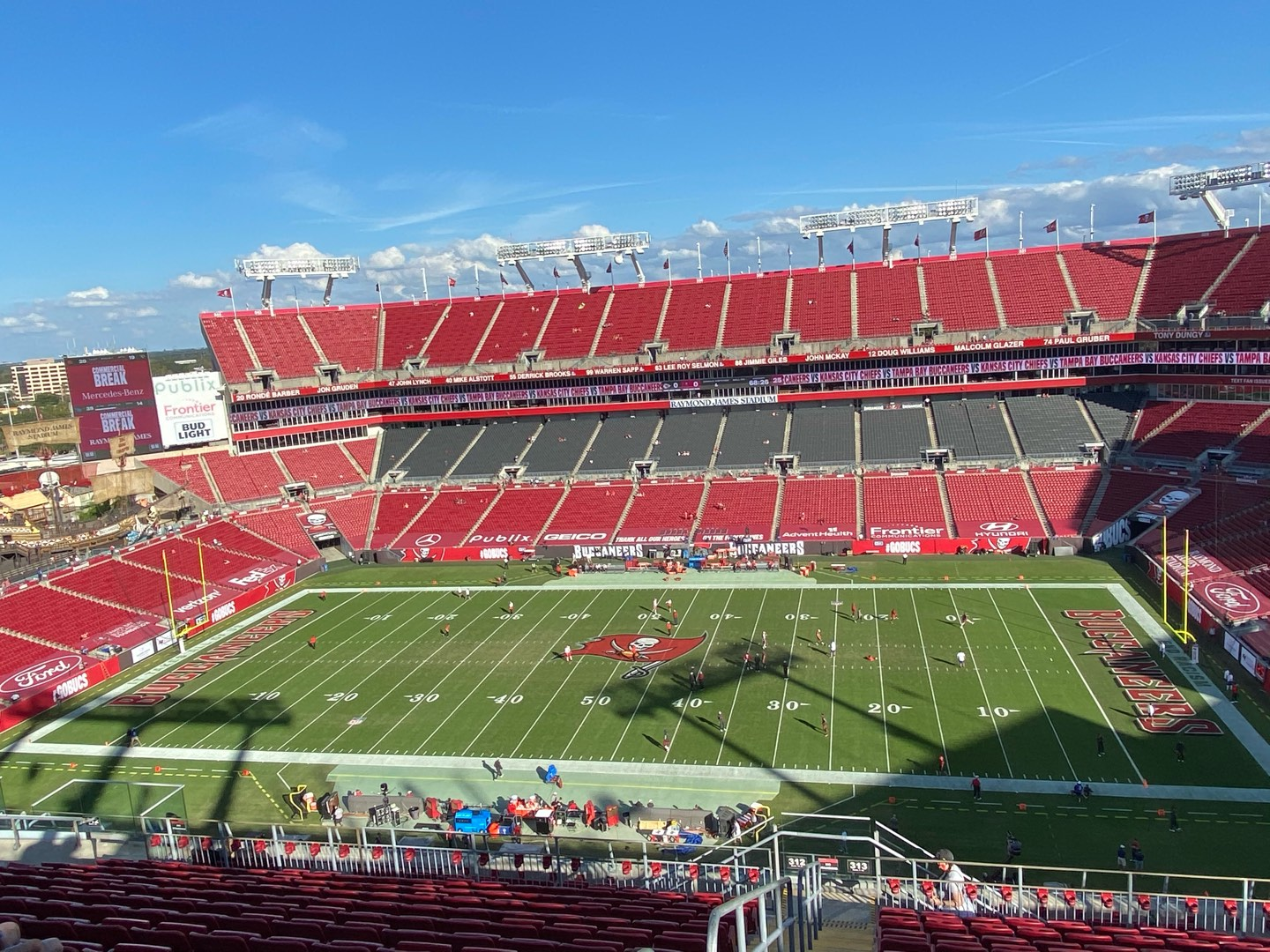 Raymond James Stadium Section 313 Row P Seat 1