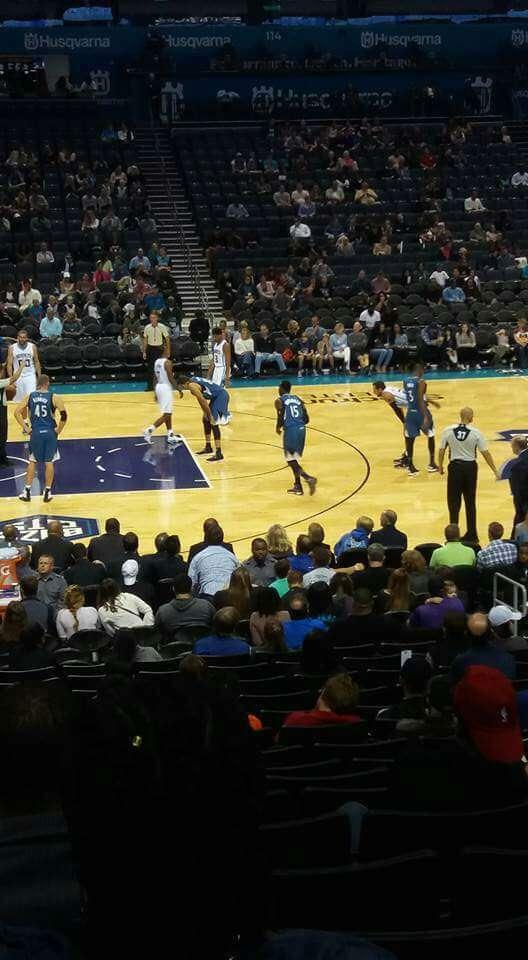 Spectrum Center Section 106 Row R Seat 10