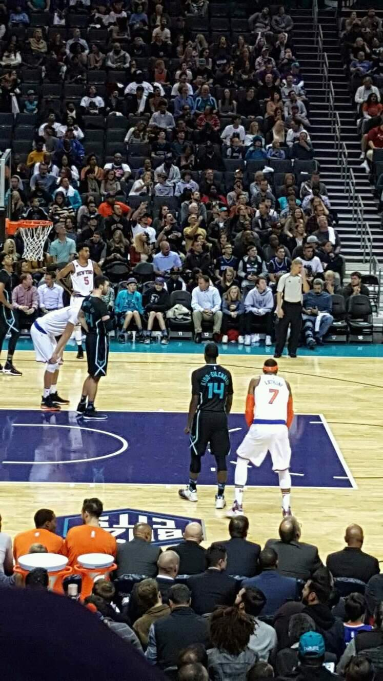 Spectrum Center Section 106 Row r Seat 9