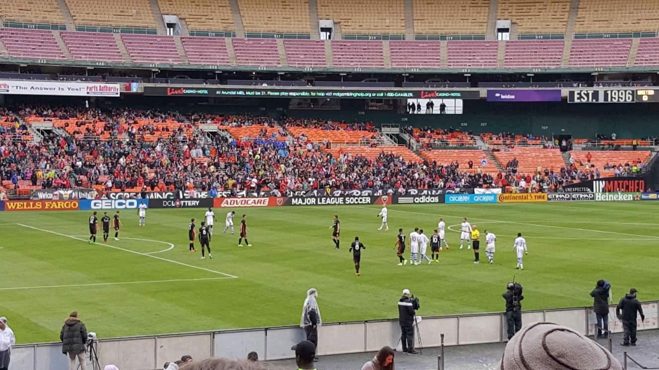 RFK Stadium Section 212 Row 14 Seat 7