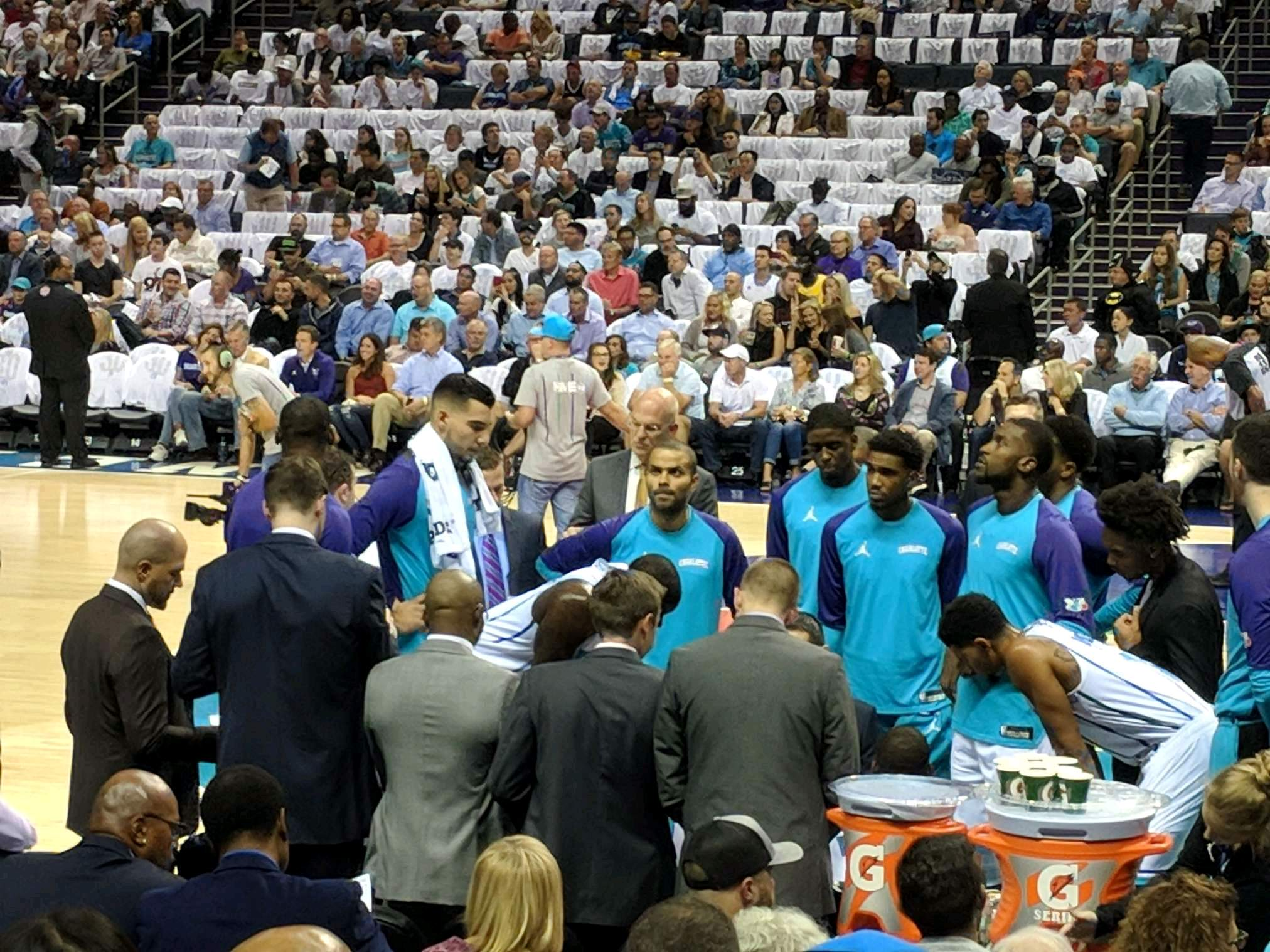 Spectrum Center Section 104 Row h Seat 3