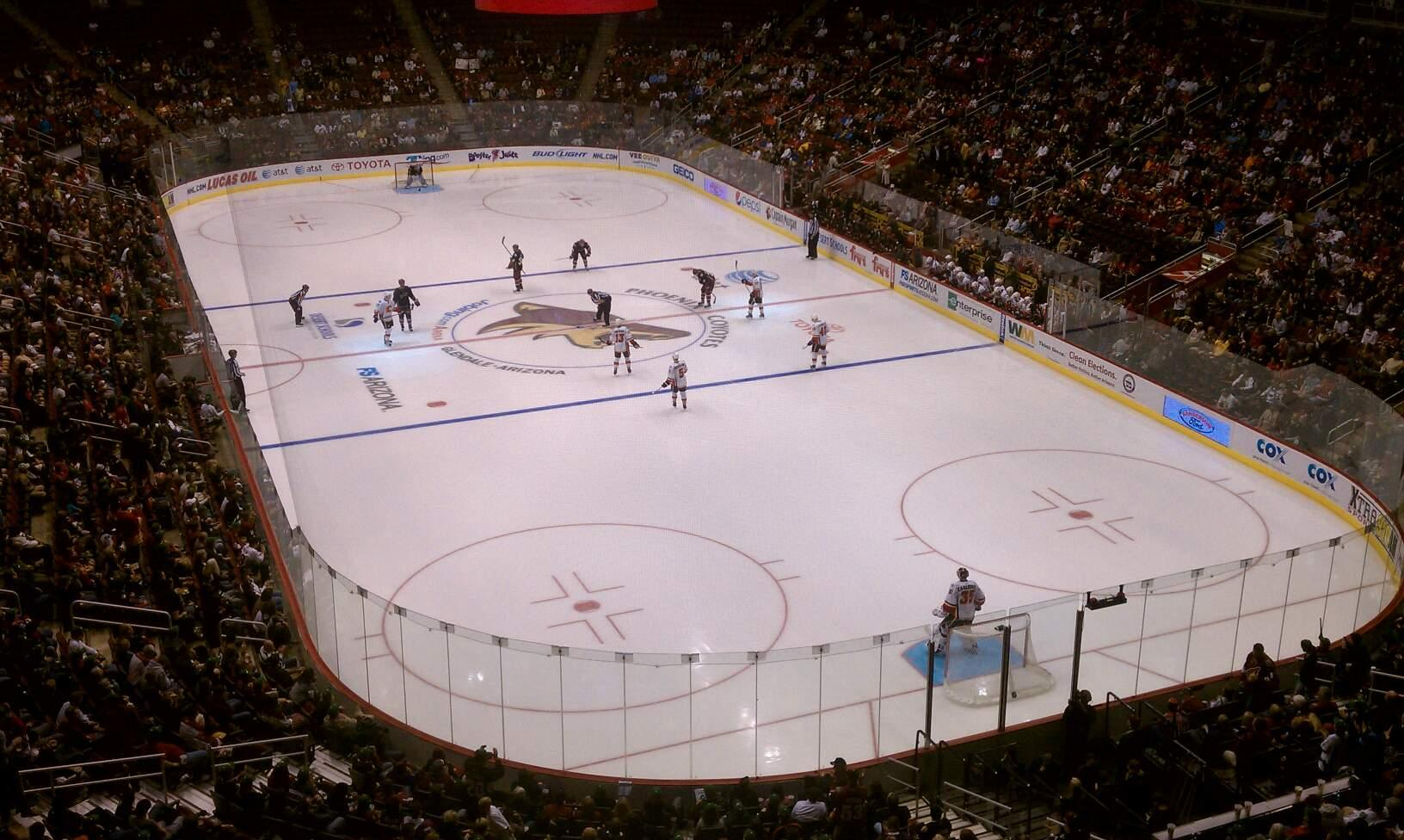 Gila River Arena Section 210 Row A Seat 7