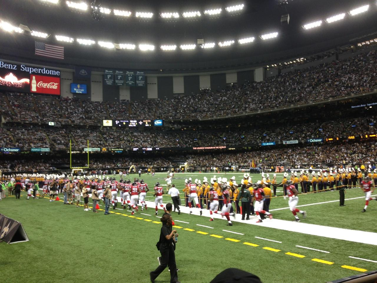 Superdome section 104 seat views seatscore rateyourseats for Mercedes benz superdome layout