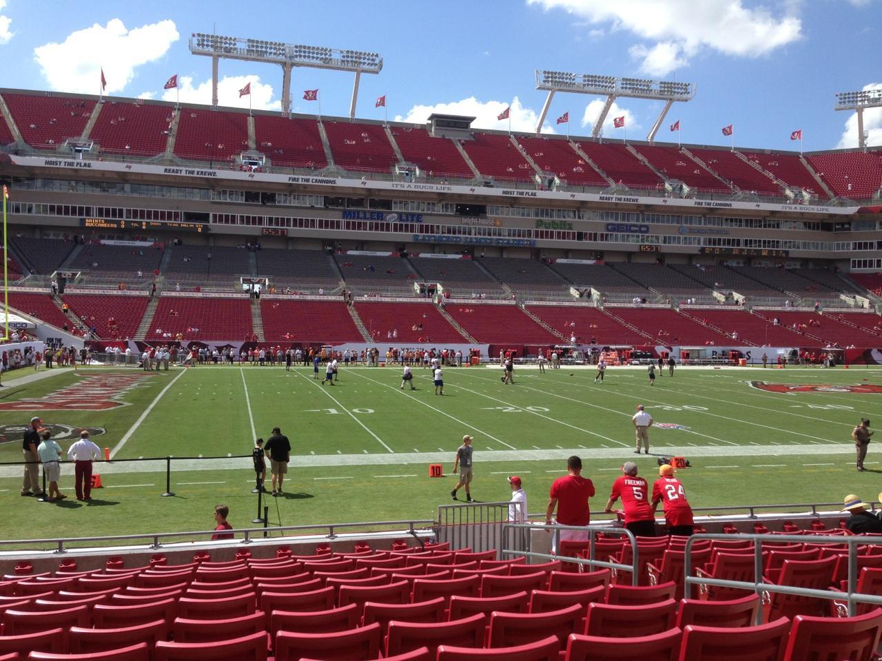 Raymond James Stadium section 132 row N seat 19 - Tampa ...