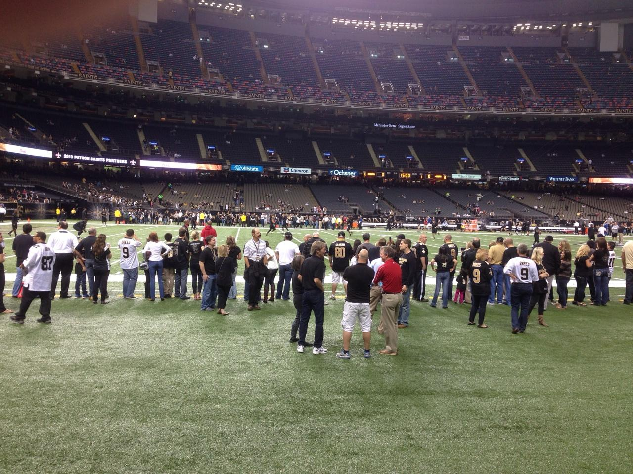 Superdome section 116 new orleans saints for Mercedes benz superdome club level seating