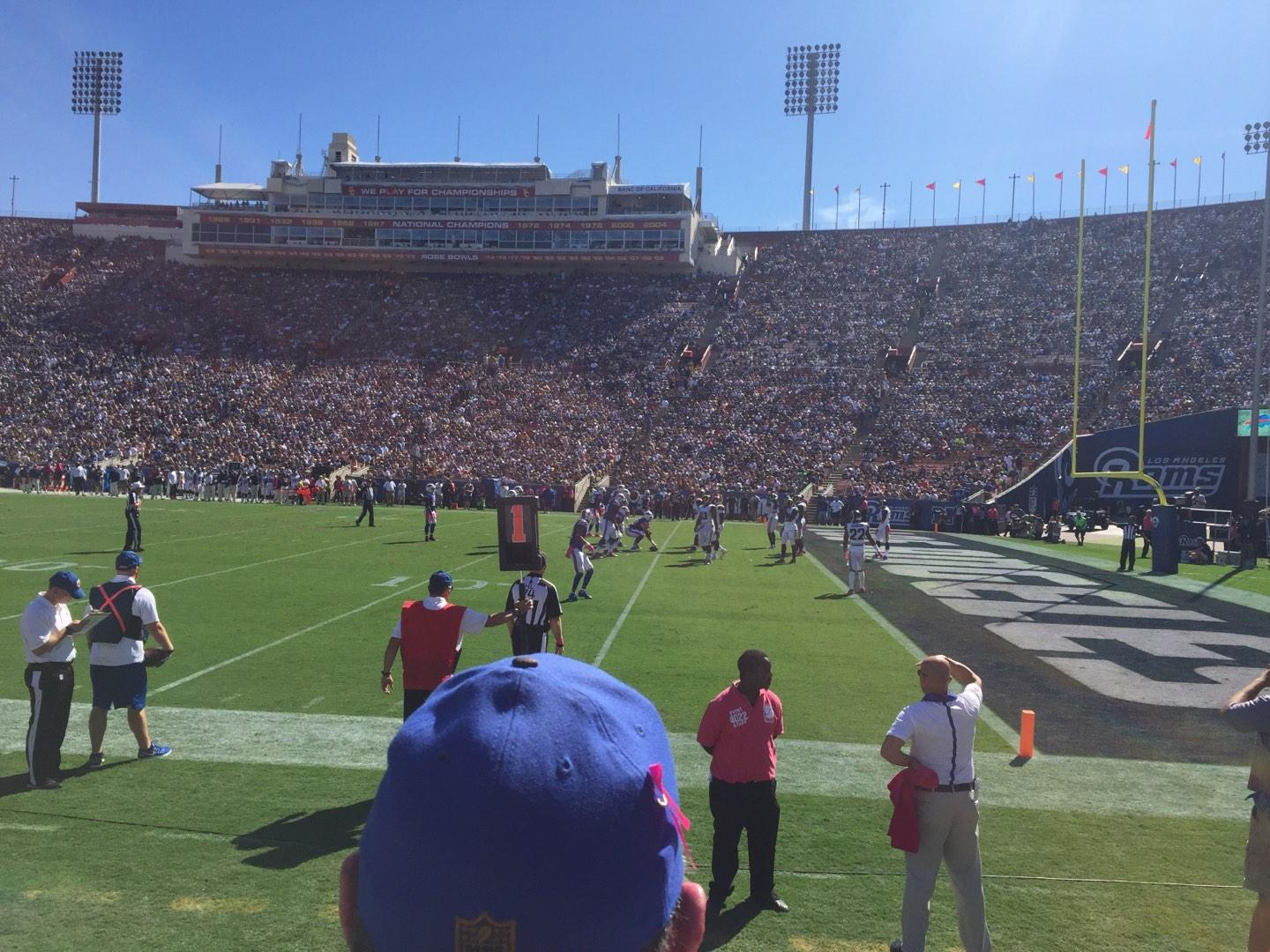 Los Angeles Memorial Coliseum Section 19L Row 2 Seat 8
