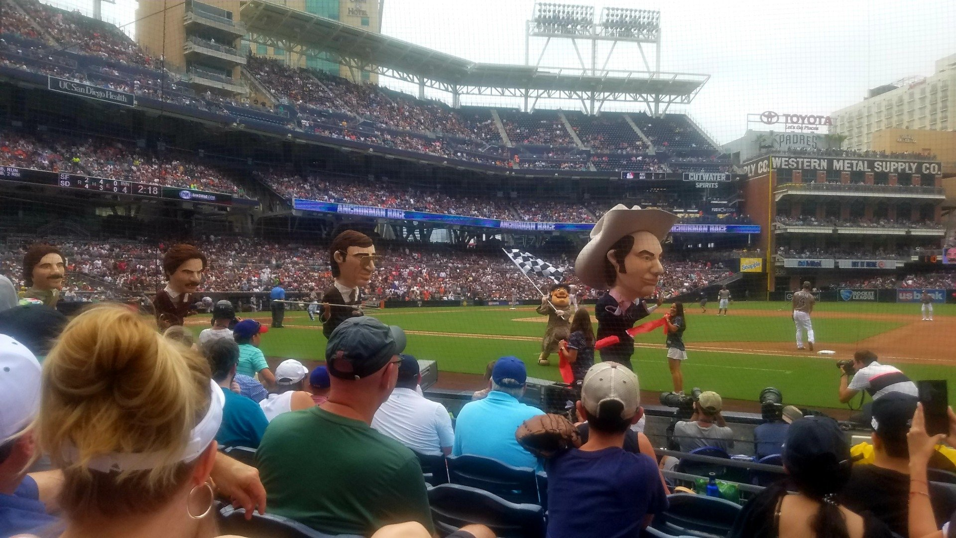 PETCO Park Section 109 Row 9 Seat 16