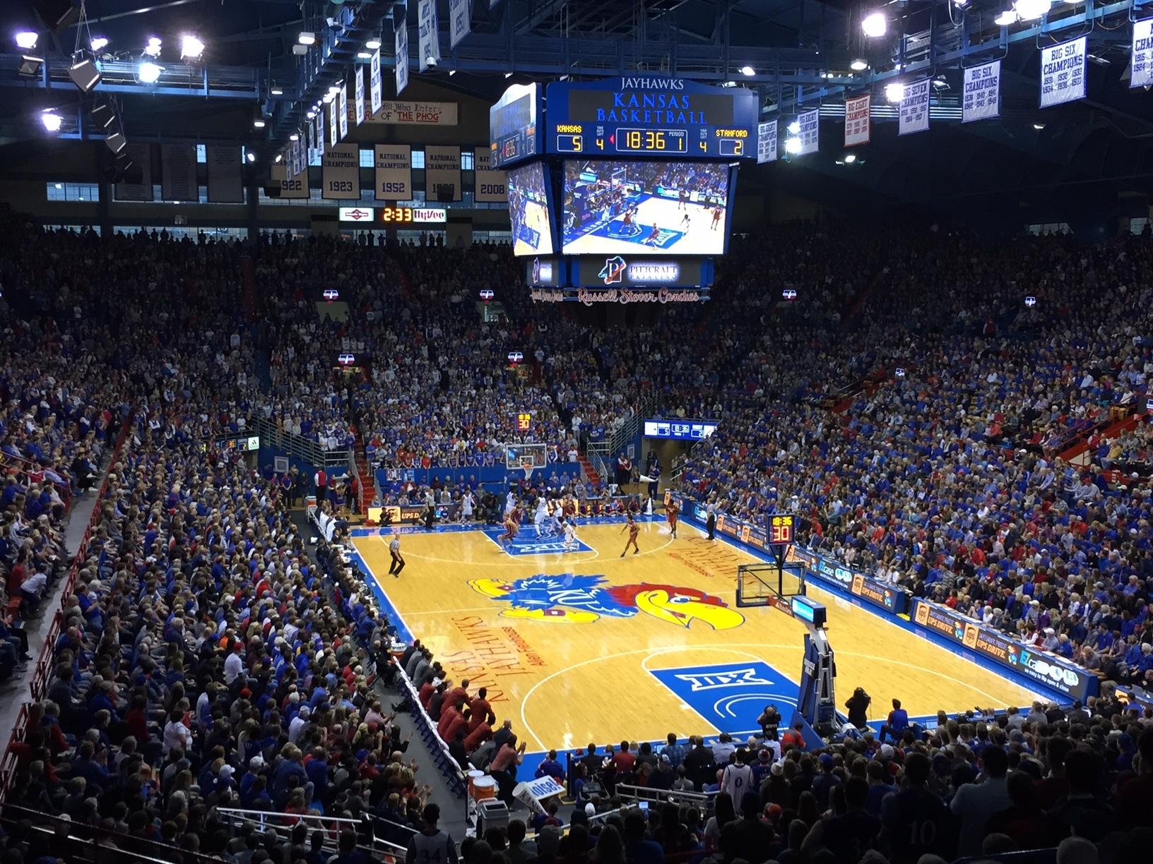 Allen Fieldhouse Section 13 Row 20 Seat 9
