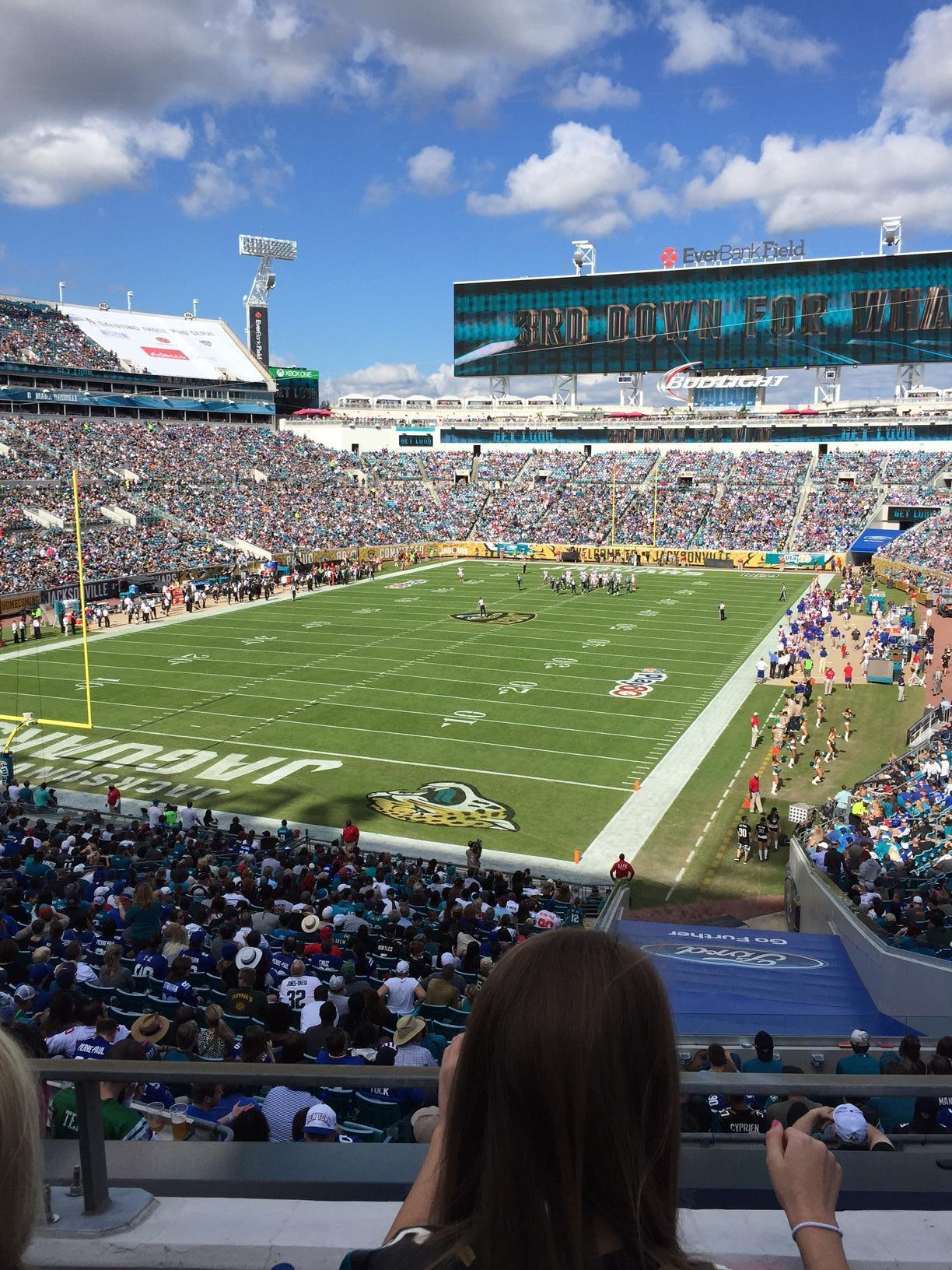 TIAA Bank Field Section Terrace Suite 2 Row 2 Seat 4