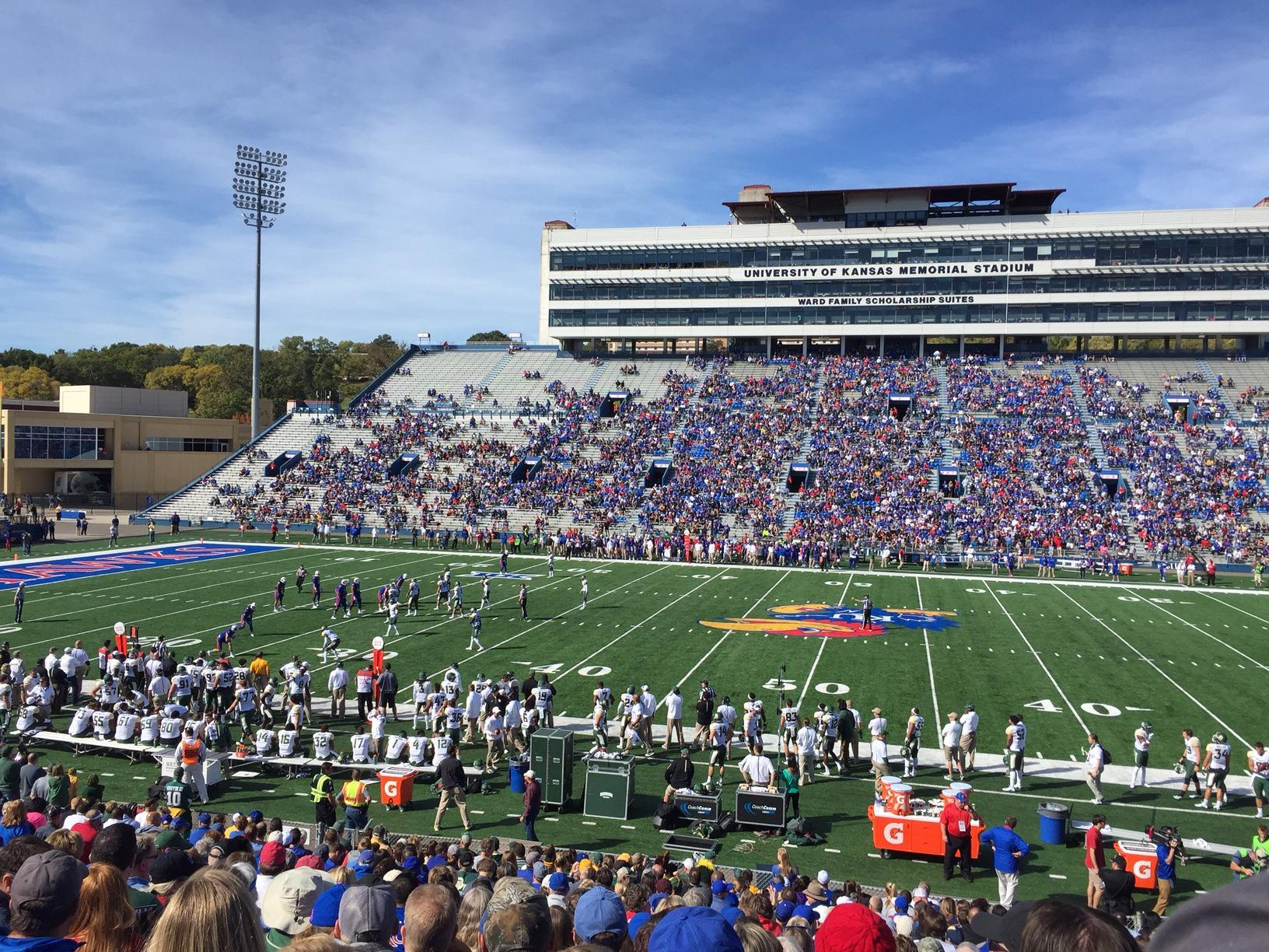 David Booth Kansas Memorial Stadium Section 21 Row 25 Seat 12