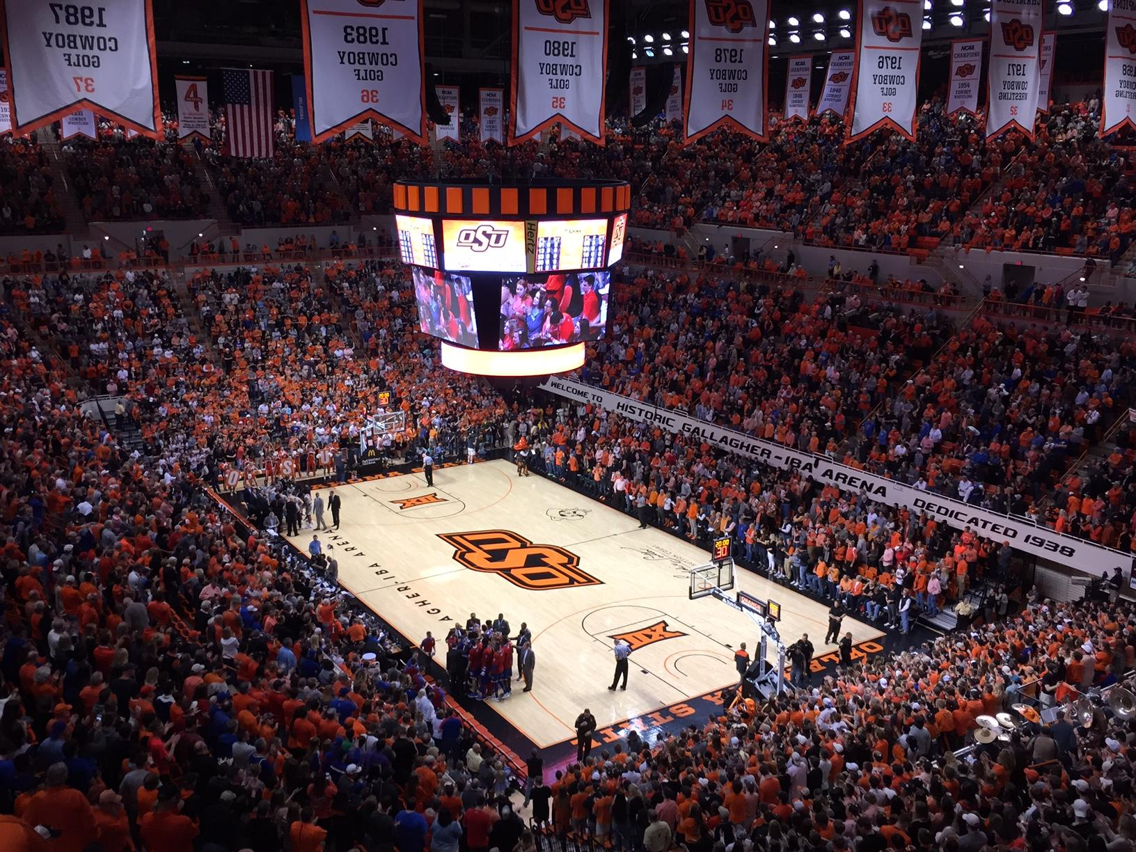 Gallagher-Iba Arena Section 313 Row 9 Seat 11