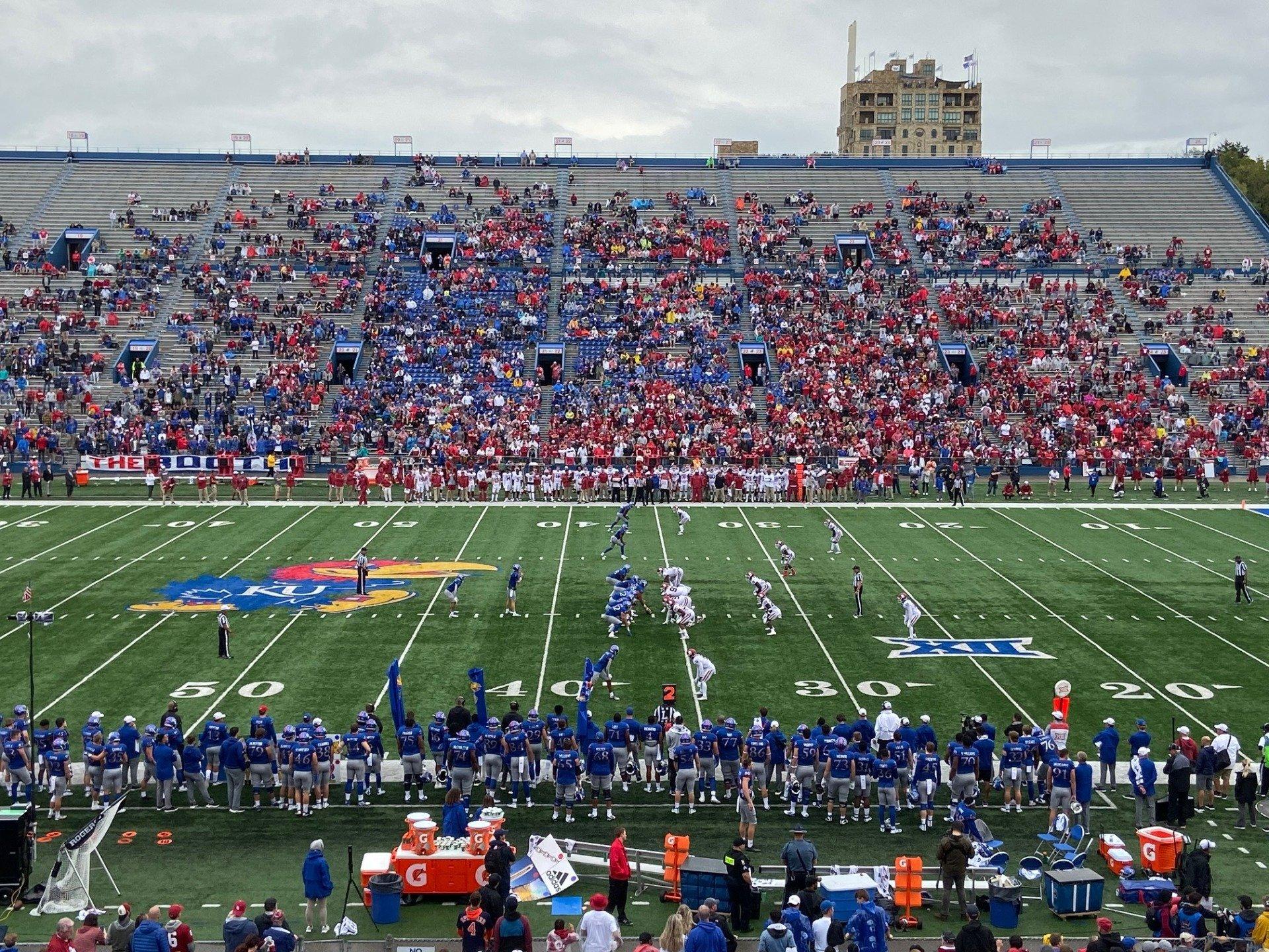 David Booth Kansas Memorial Stadium Section 5 Row 37 Seat 21