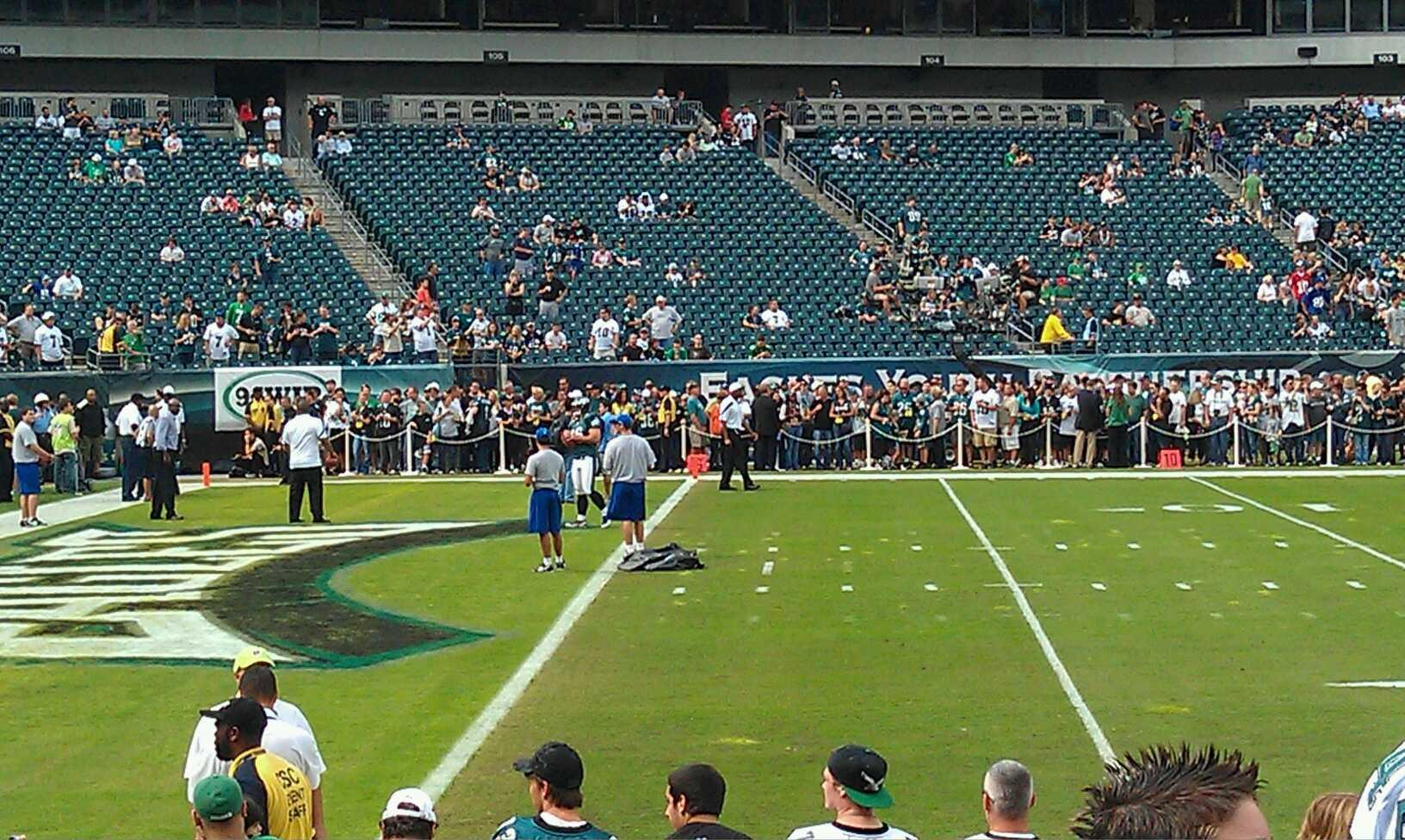 Lincoln Financial Field Section 116 Row 5 Seat 9