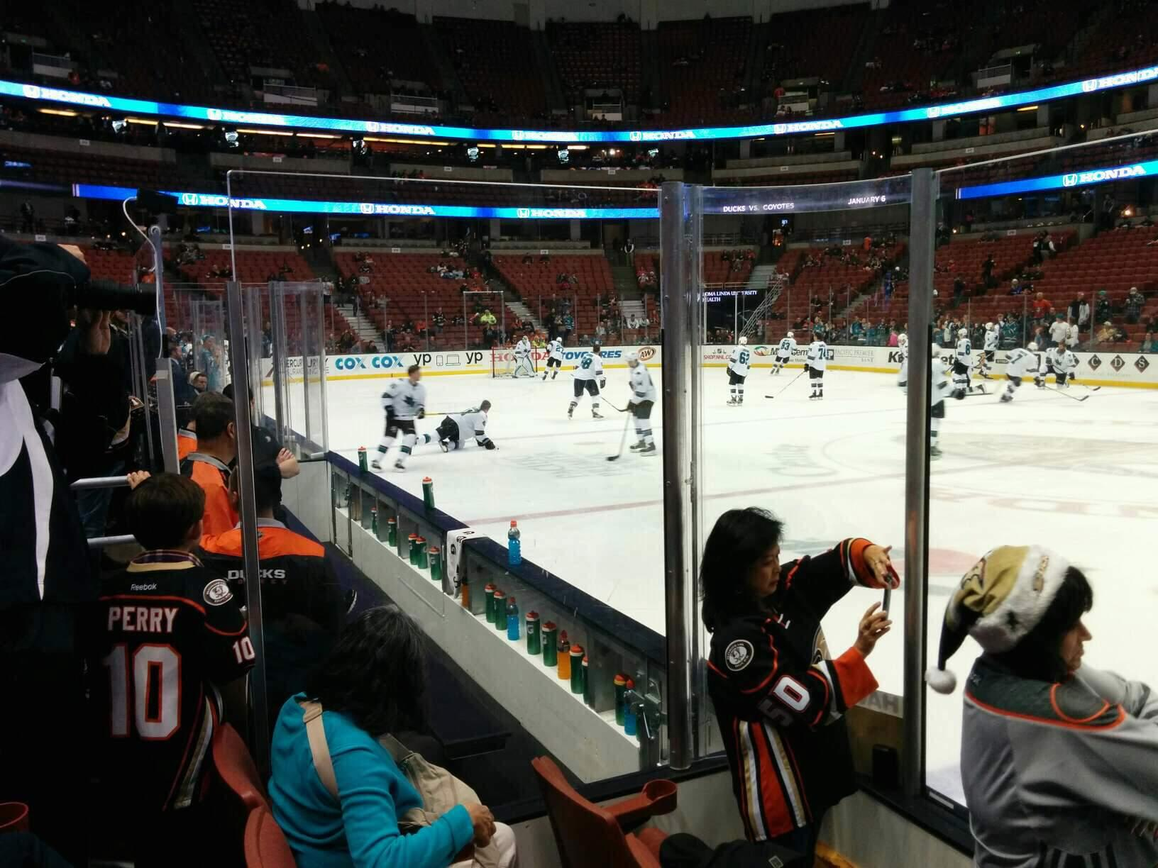 Honda Center Section 207 Row C Seat 102