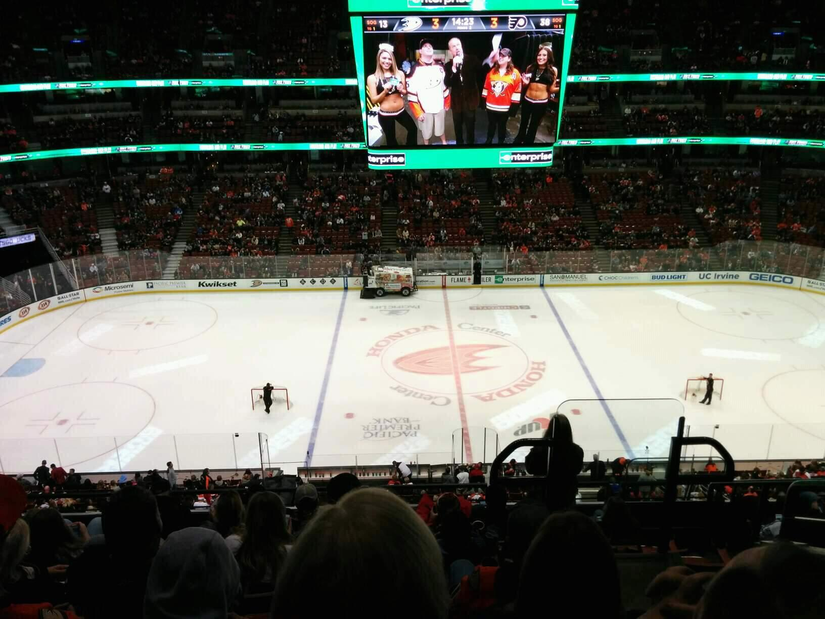 Honda Center Section 412 Row H Seat 2