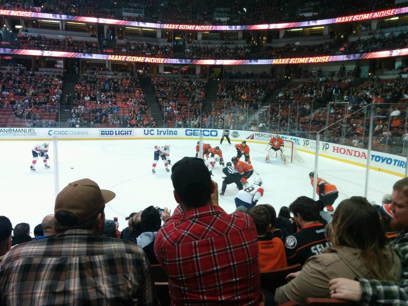 Honda Center Section 206 Row H Seat 10