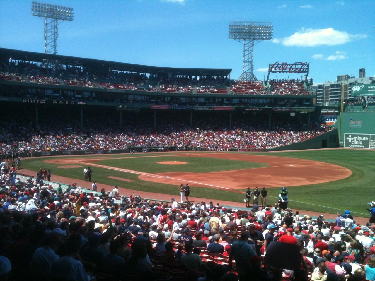 Fenway Park Section Grandstand 11 Row 3 Seat 14 Boston
