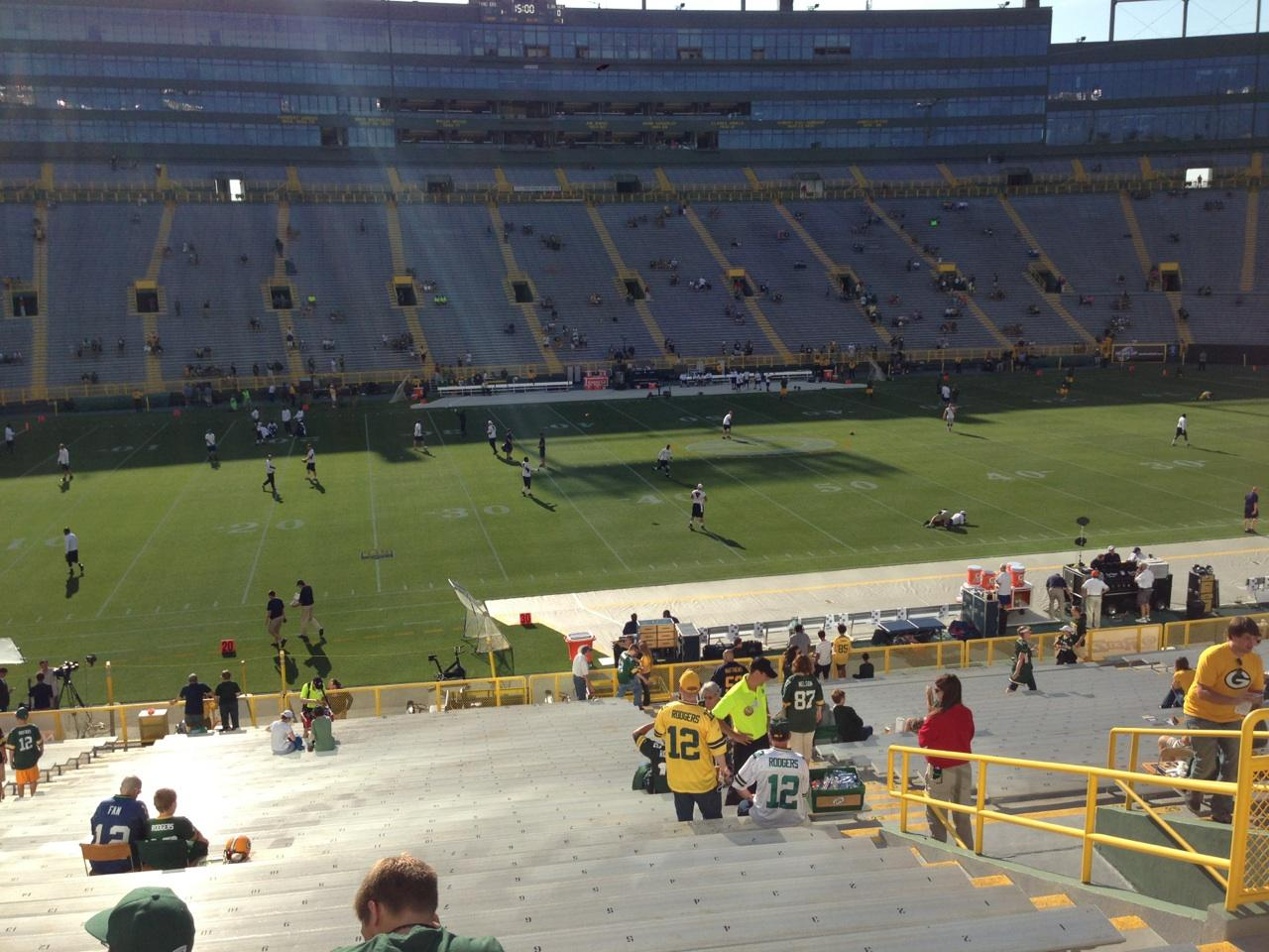 Seating in Section 123 at Lambeau Field