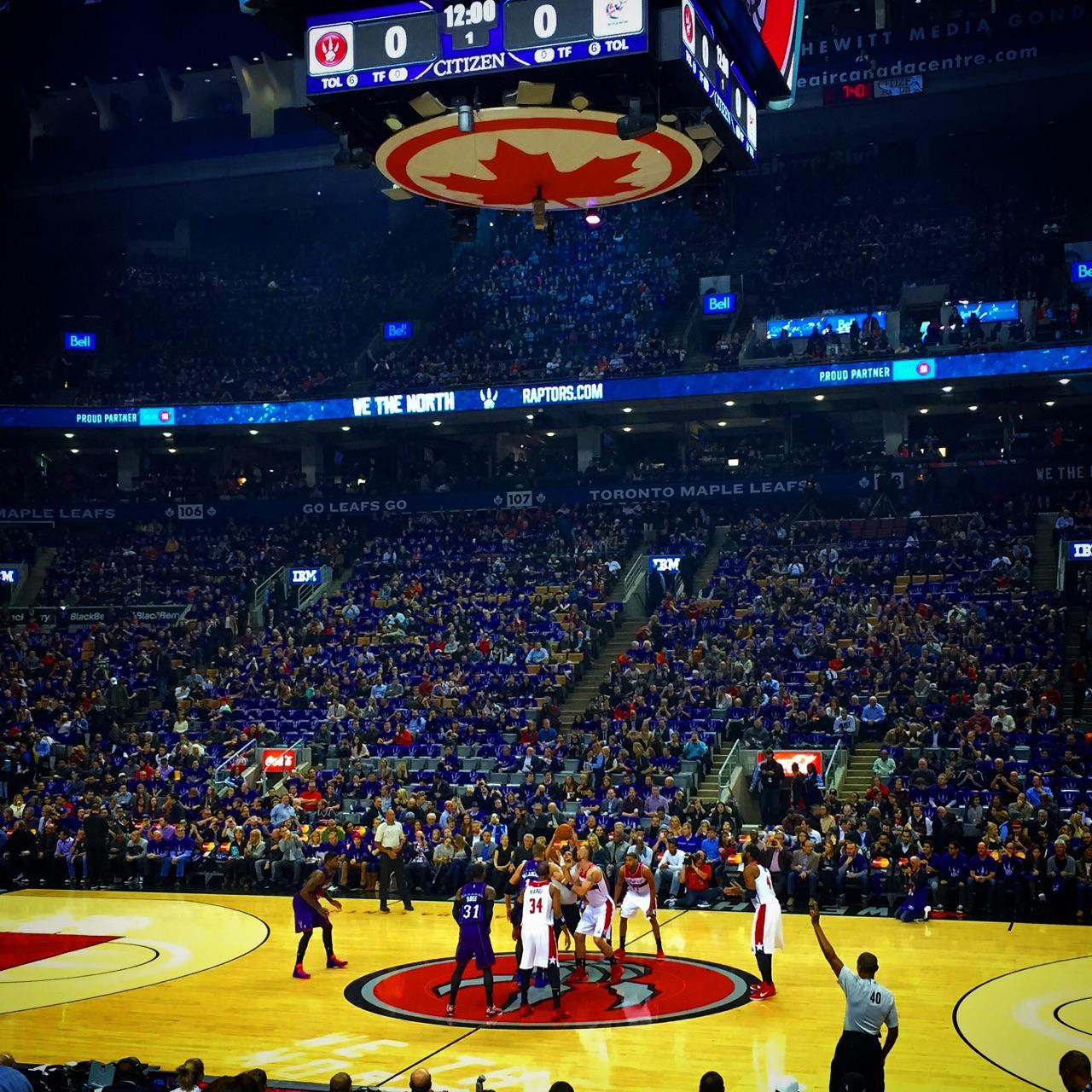 Toronto Raptors Seat View for Air Canada Centre Section 118, Row 11, Seat 24