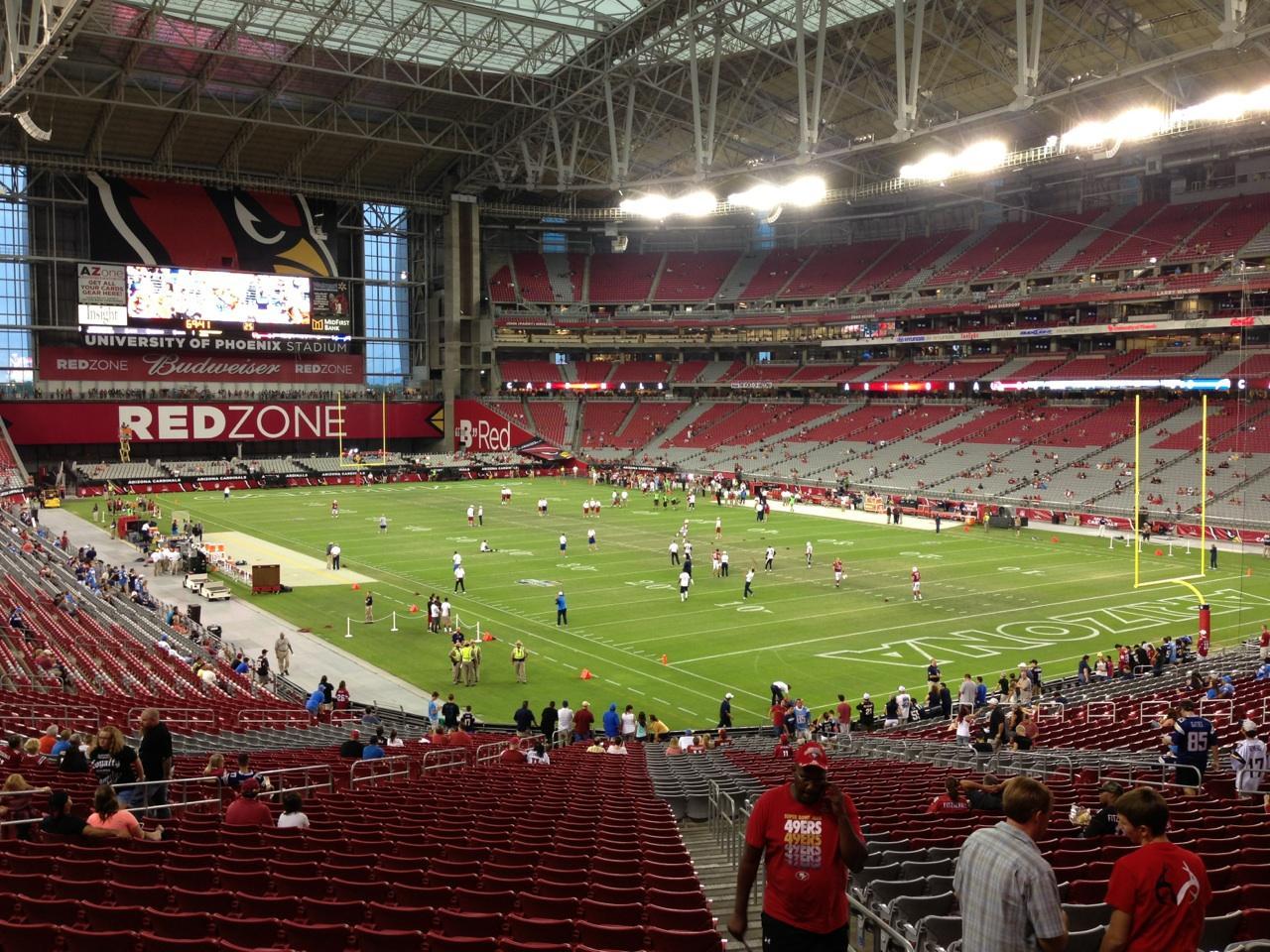 University Of Phoenix Stadium Section 123 Row 41 Seat 14