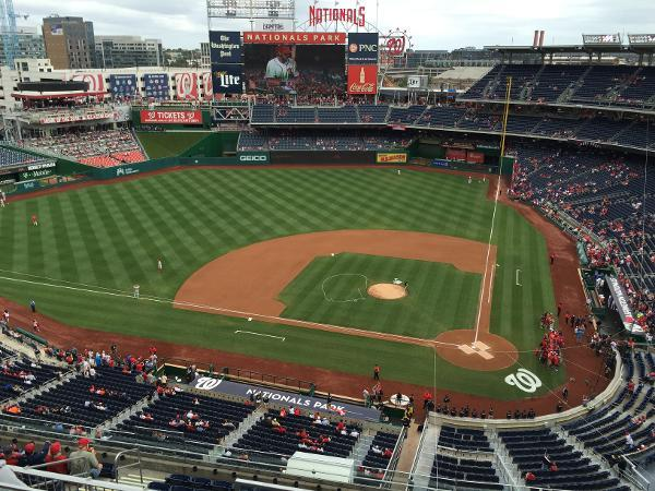 Nationals Park Section 409 Row D Seat 3