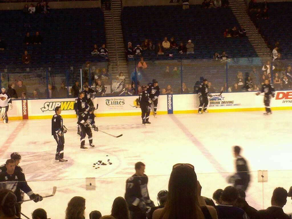 Amalie Arena Section 105 Row f Seat 6