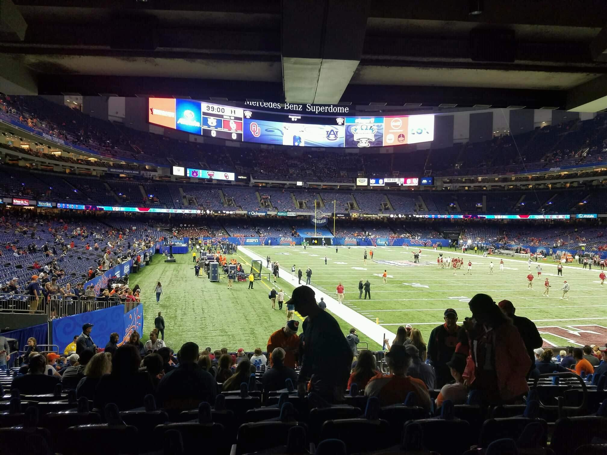 Mercedes-Benz Superdome Section 104 Row 20 Seat 14