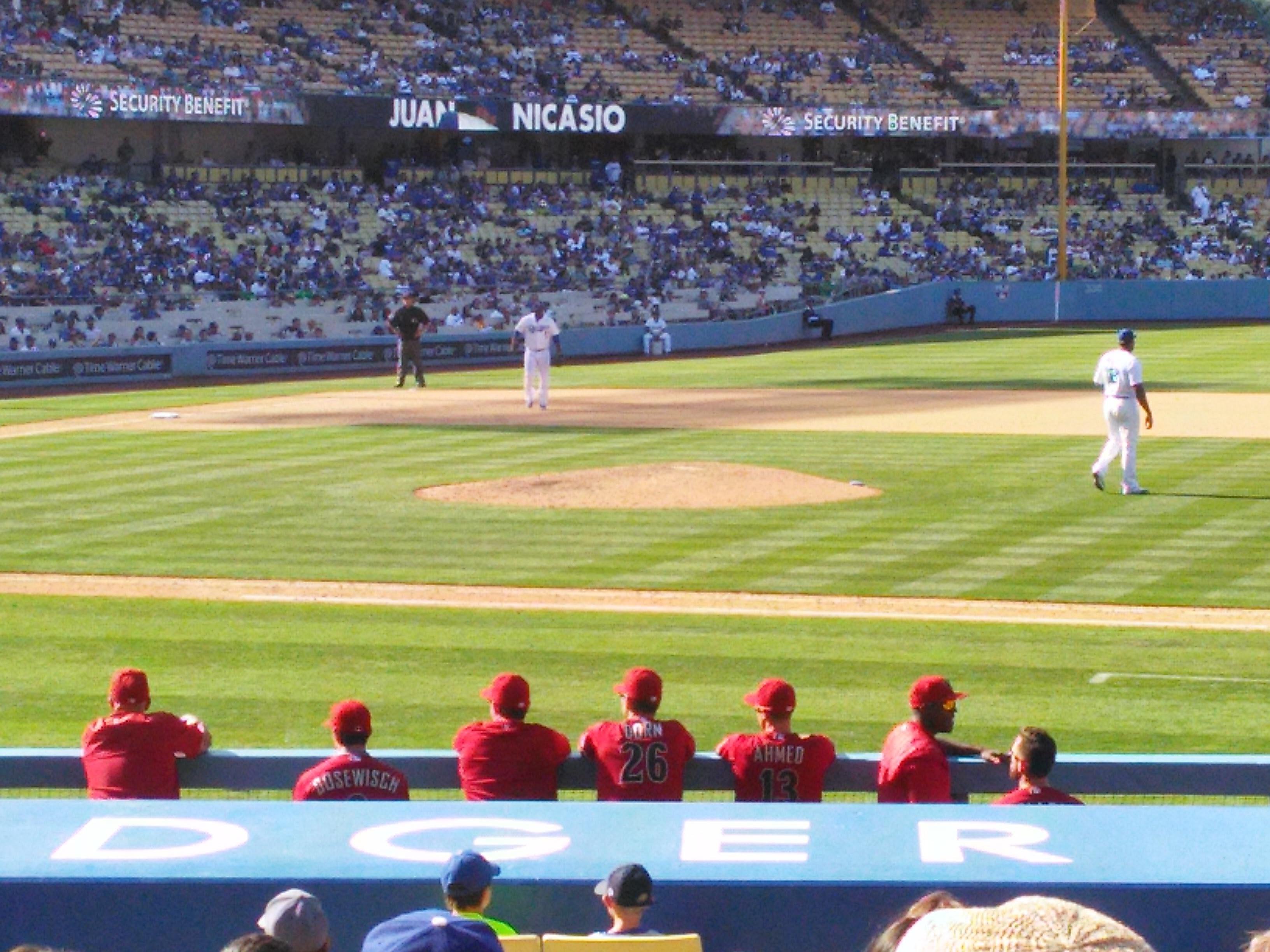 Dodger Stadium Section 20FD Row L Seat 4