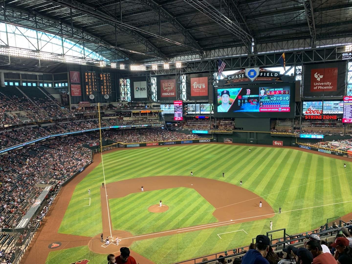 Chase Field Section 312 Row 14 Seat 17