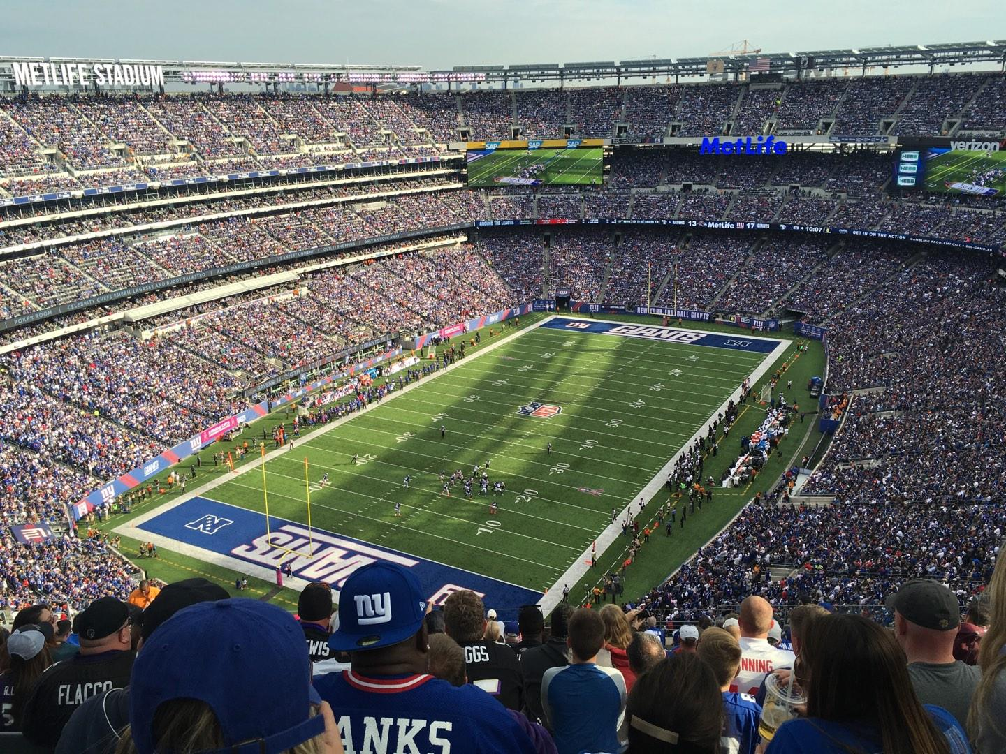 MetLife Stadium Section 347 Row 23 Seat 13